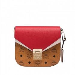 MCM Patricia Shoulder Bag in Color Block Leather Bag