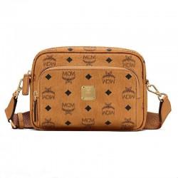 MCM Small Crossbody Bag In Visetos Printed Logo Shoulder Bag Ladies Camera Bag