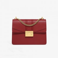 Charles Keith Chain Flap Shoulder Bag Red