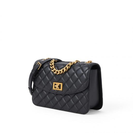 Charles Keith Chain Shoulder Bag Diamond Bag Black