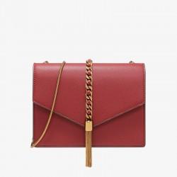 Charles Keith Fashion Tassel Shoulder Bag Red