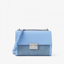 Charles Keith Chain Flap Shoulder Bag Denim Blue