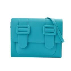 Merimies Plain Pretty Turquoise Bag L Size