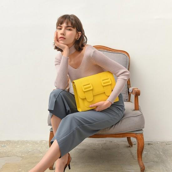 Merimies Plain Pretty Yellow Bag L Size