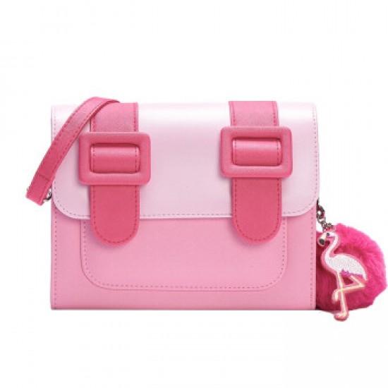 Merimies Paris Romance Flamingo Bag M Size