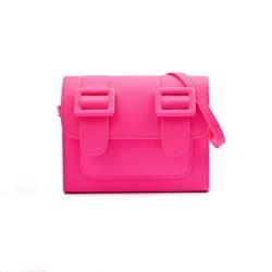 Merimies Plain Pretty Fluorescence Pink Bag M Size