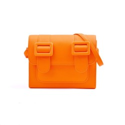 Merimies Plain Pretty Fluorescence Orange Bag M Size