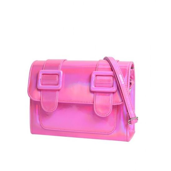 Merimies Plain Pretty Hologram Pink Bag M Size