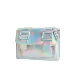 Merimies Plain Pretty Hologram Silver Bag M Size