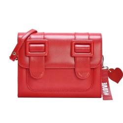 Merimies Plain Pretty Scarlet Red Bag M Size